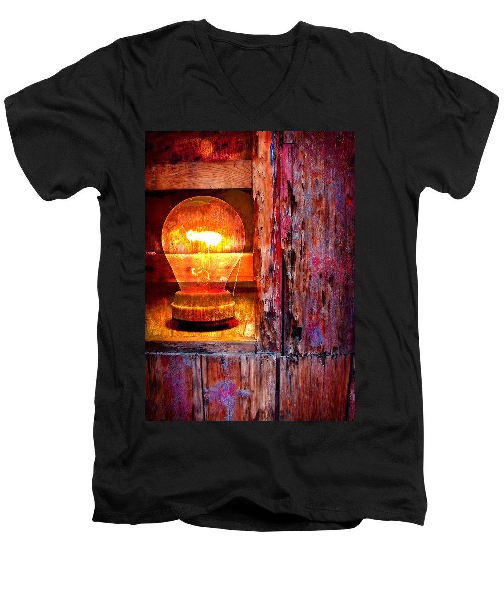 Skip Men's V-Neck T-Shirt featuring the photograph Bright Idea by Skip Hunt