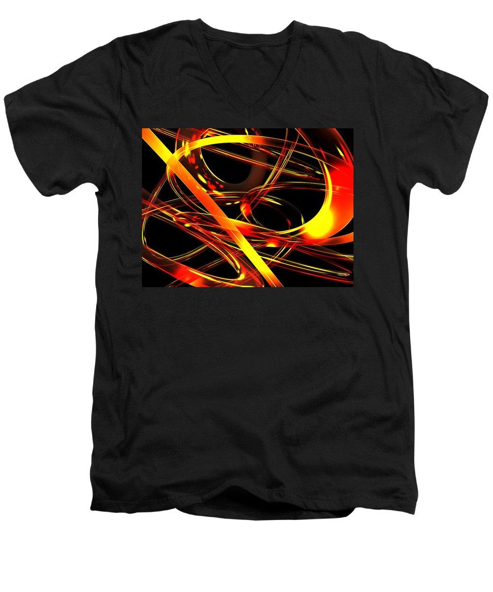 Scott Piers Men's V-Neck T-Shirt featuring the digital art BWS by Scott Piers