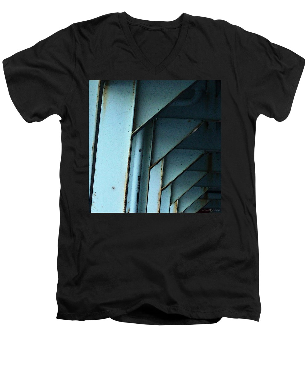 Ferry Men's V-Neck T-Shirt featuring the photograph Car Ferry by Tim Nyberg