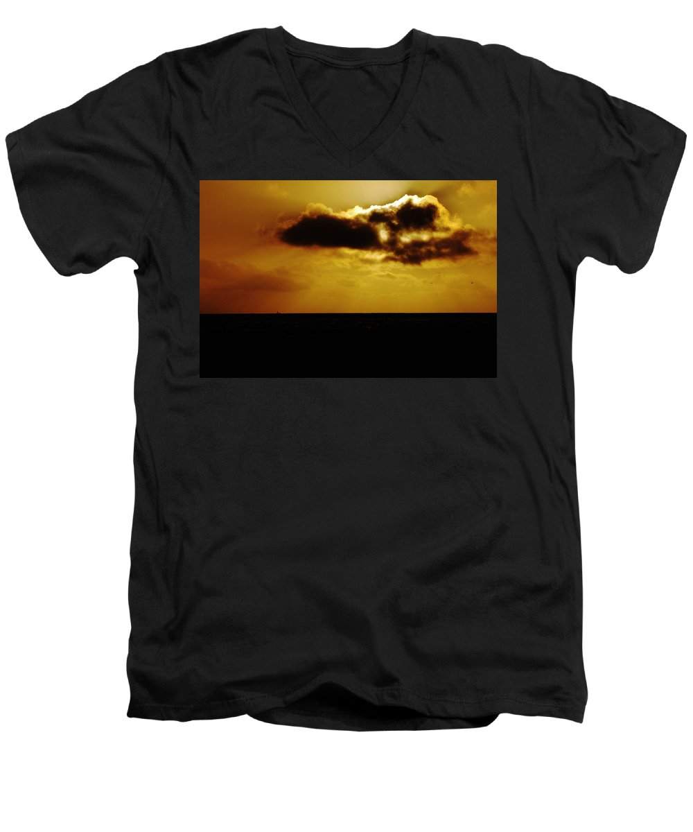 Clay Men's V-Neck T-Shirt featuring the photograph Clouds Over The Ocean by Clayton Bruster