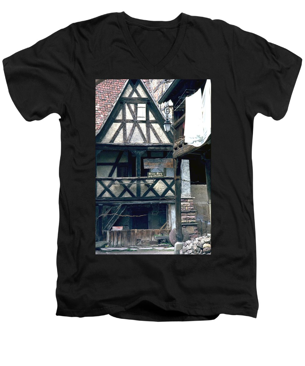 Colmar Men's V-Neck T-Shirt featuring the photograph Colmar by Flavia Westerwelle