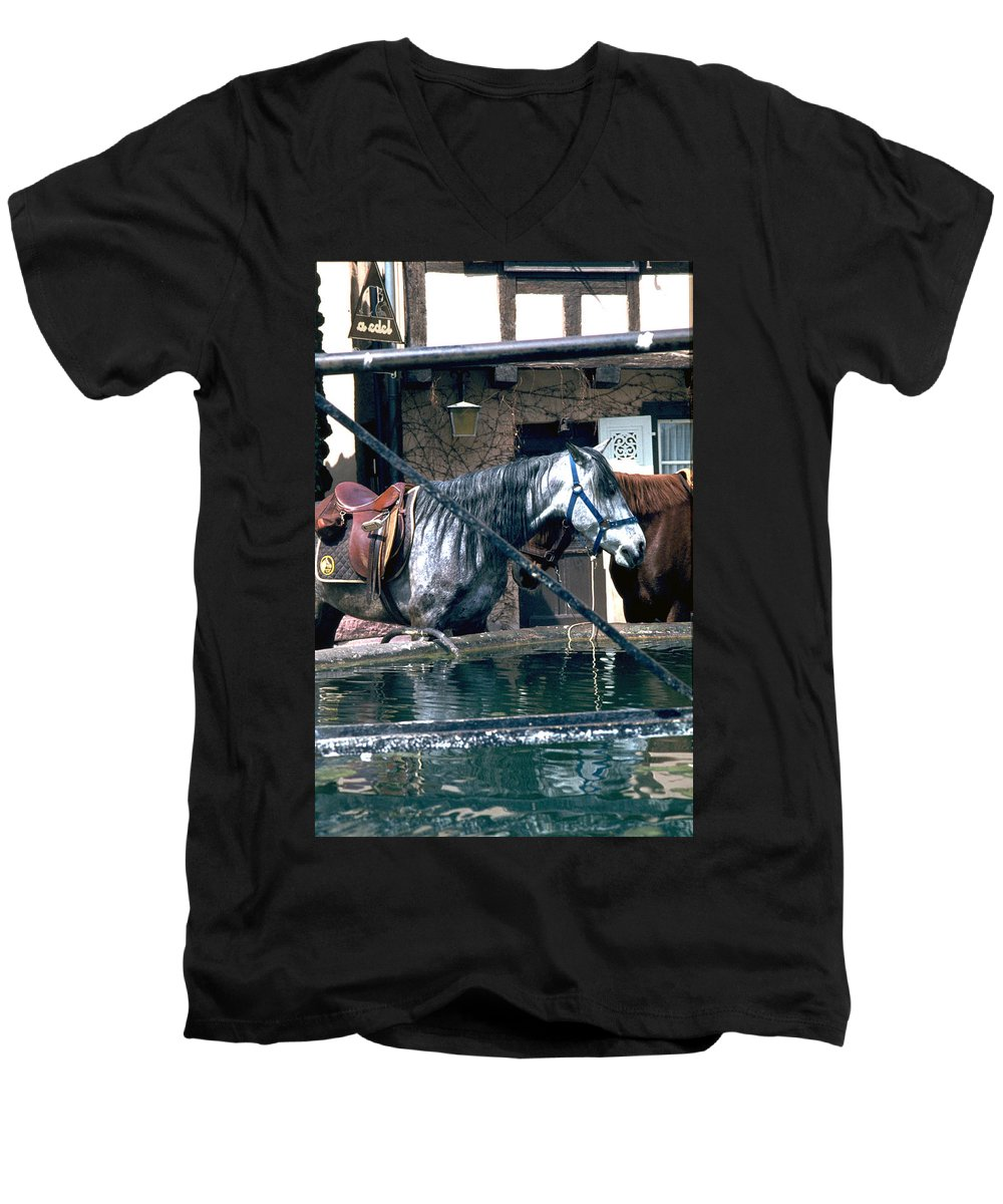 Colmar Men's V-Neck T-Shirt featuring the photograph Colmar II by Flavia Westerwelle
