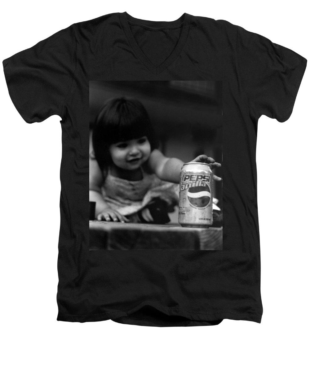 Dark Art Men's V-Neck T-Shirt featuring the photograph Consumer by Peter Piatt