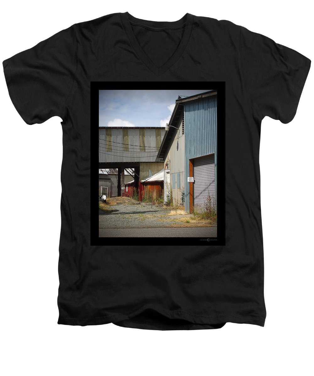 Corrugated Men's V-Neck T-Shirt featuring the photograph Corrugated by Tim Nyberg