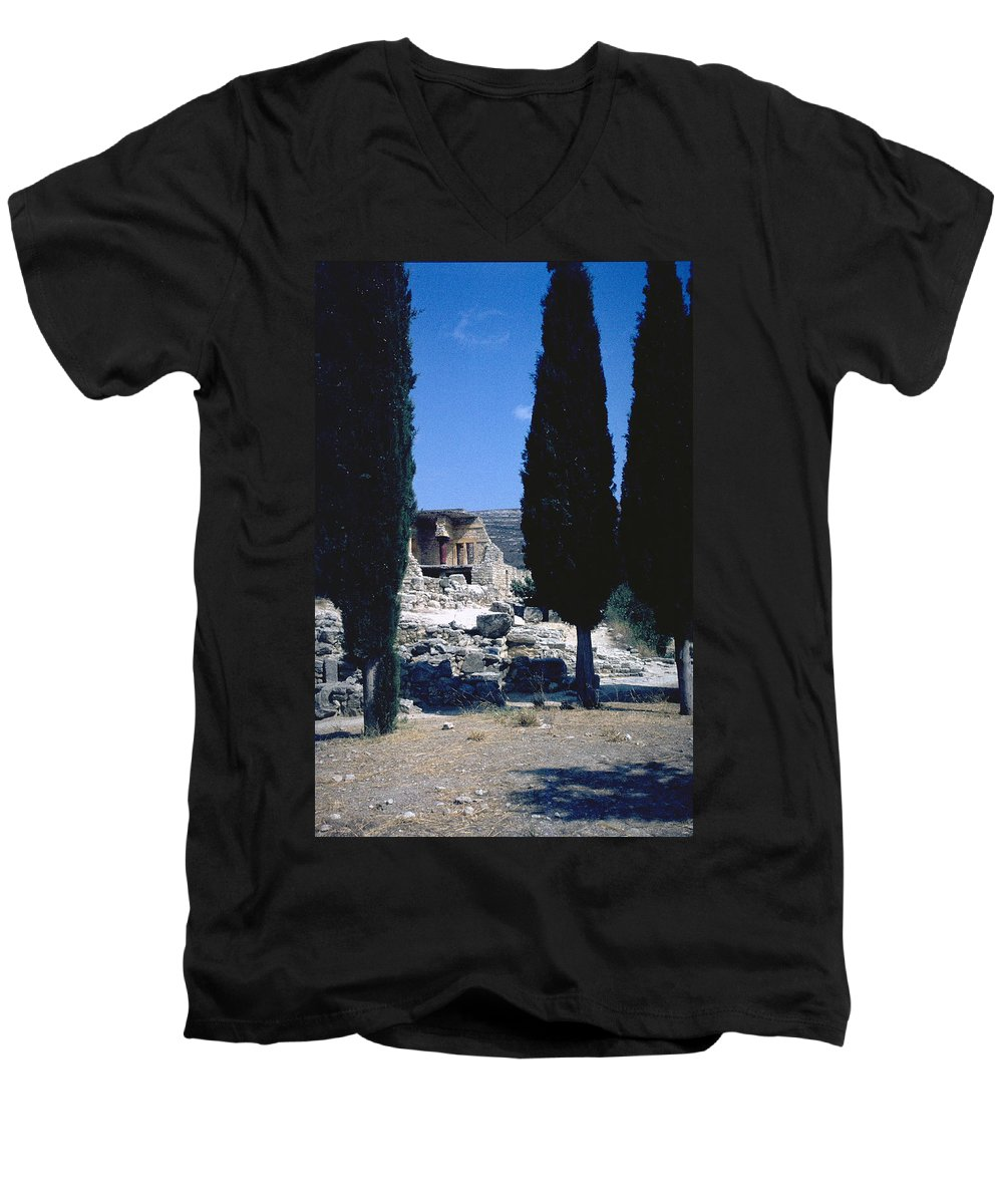 Crete Men's V-Neck T-Shirt featuring the photograph Crete by Flavia Westerwelle