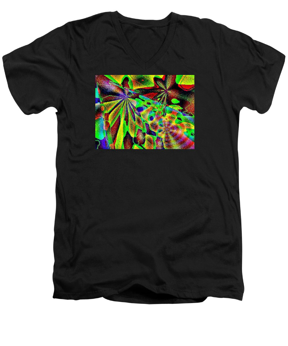 Computer Art Men's V-Neck T-Shirt featuring the digital art Damselwing by Dave Martsolf