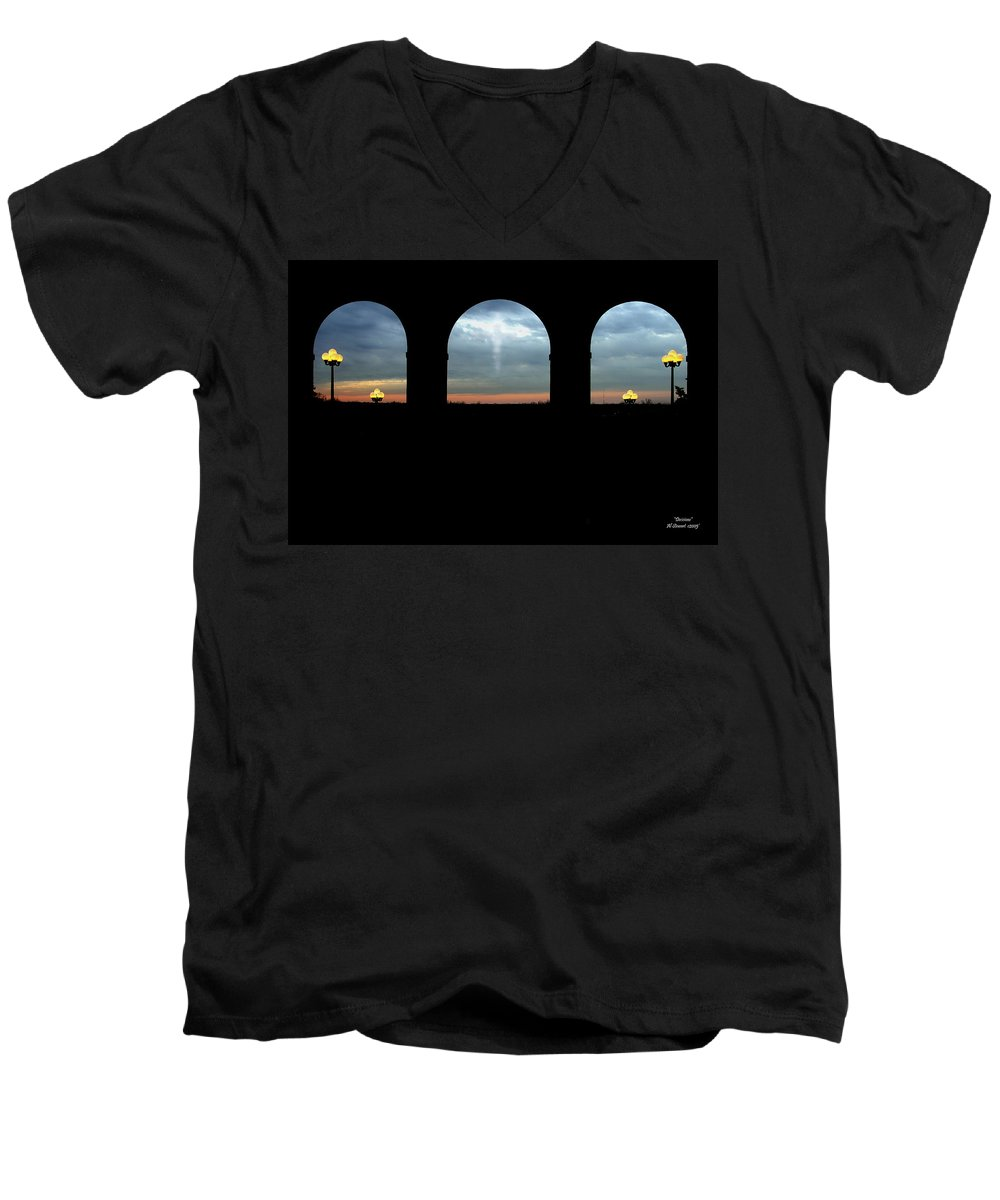 Arch Men's V-Neck T-Shirt featuring the photograph Decisions by Albert Stewart