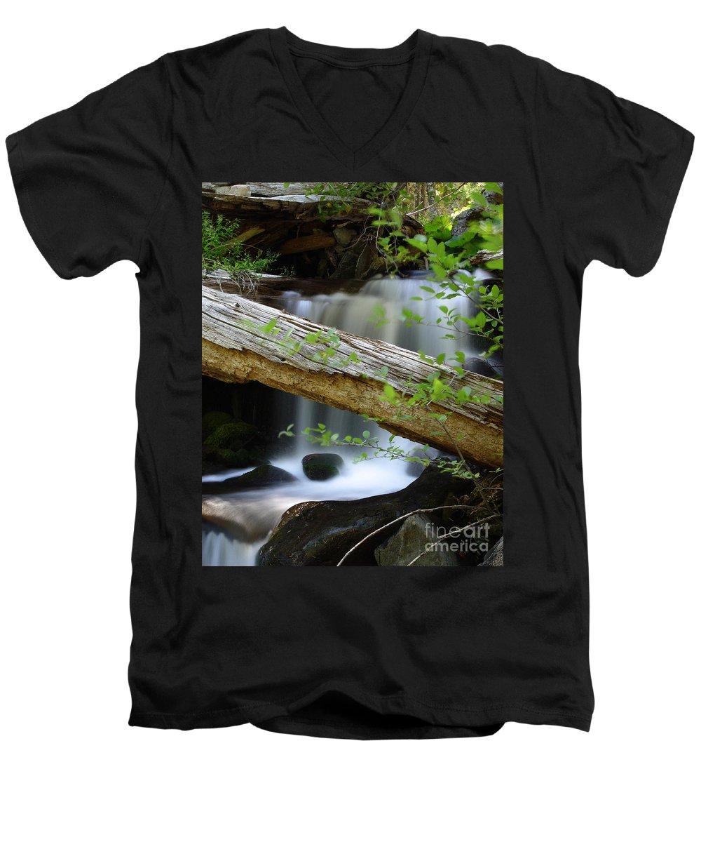 Creek Men's V-Neck T-Shirt featuring the photograph Deer Creek 13 by Peter Piatt
