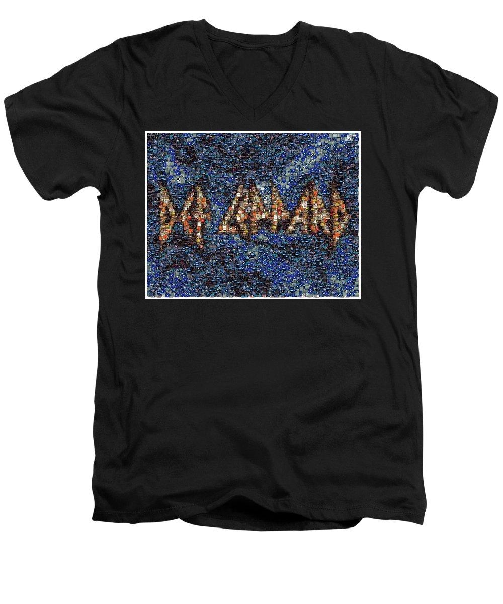 Def Leppard V-Neck T-Shirts