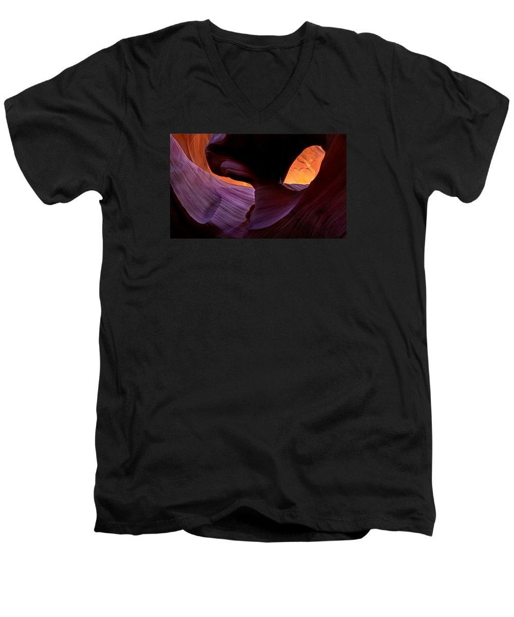 Eye Men's V-Neck T-Shirt featuring the photograph Desert Eye by Mike Dawson