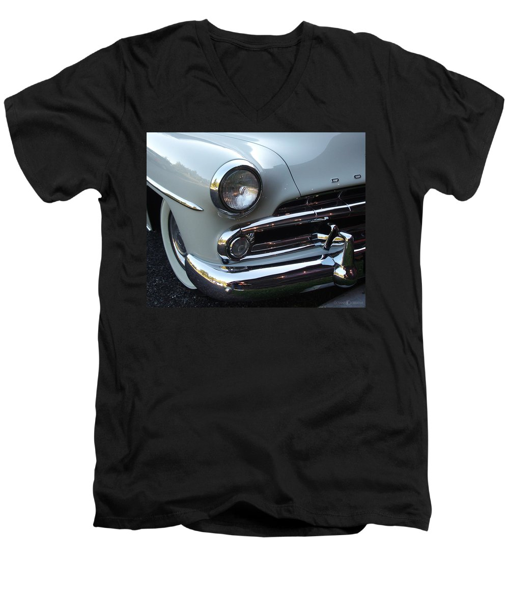 Dodge Men's V-Neck T-Shirt featuring the photograph Dodge by Tim Nyberg