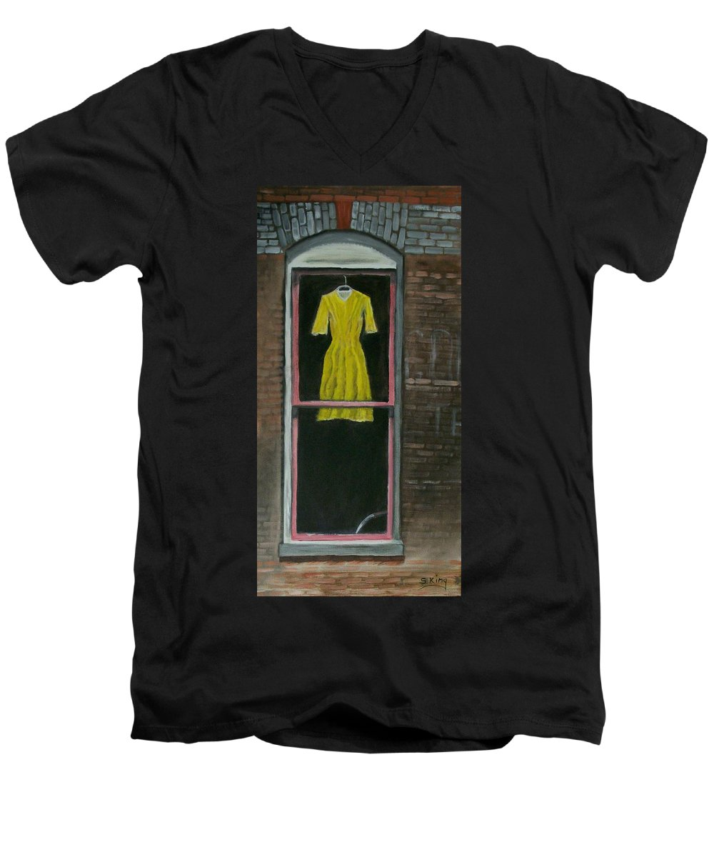 Original Men's V-Neck T-Shirt featuring the painting Dress Up by Stephen King
