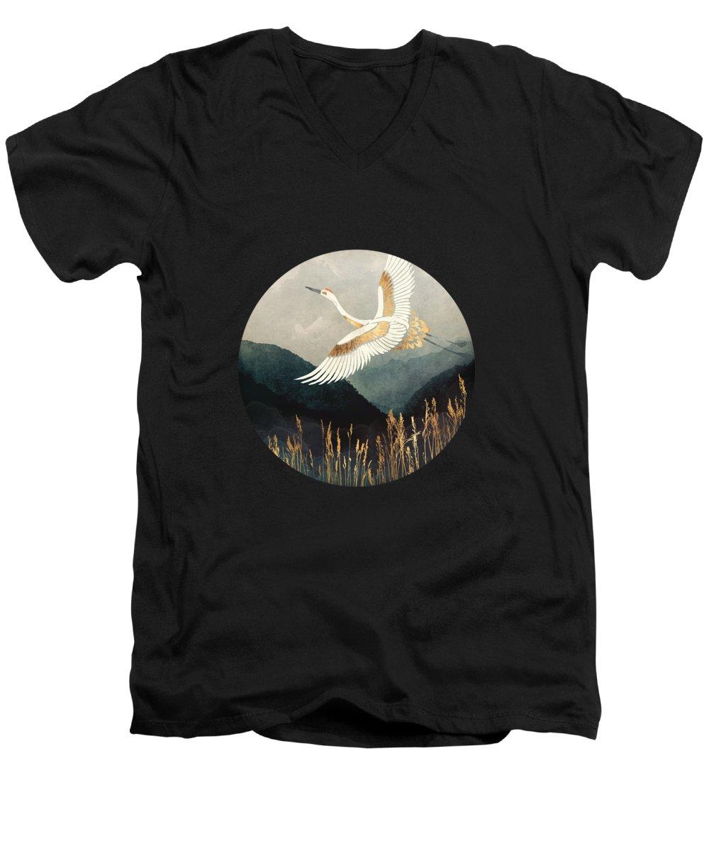 Crane V-Neck T-Shirts