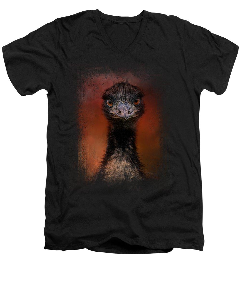 Emu V-Neck T-Shirts