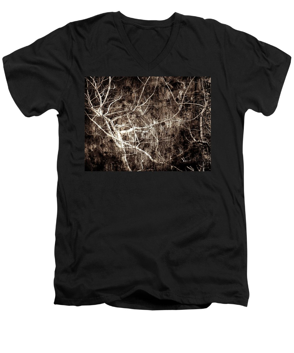 Tree Men's V-Neck T-Shirt featuring the photograph Endless by Gaby Swanson