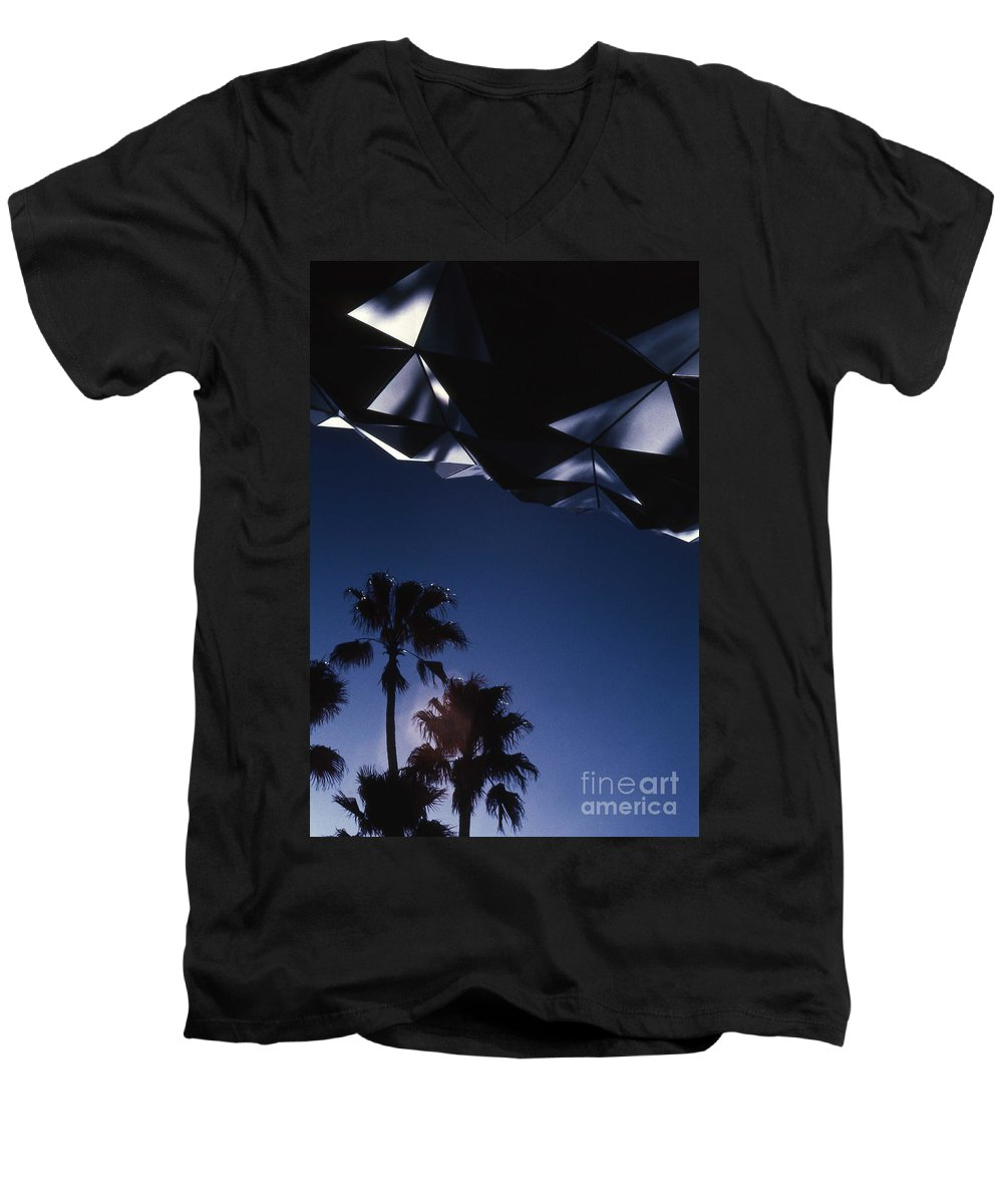 Epcot Men's V-Neck T-Shirt featuring the photograph Epcot Abstract by Richard Rizzo