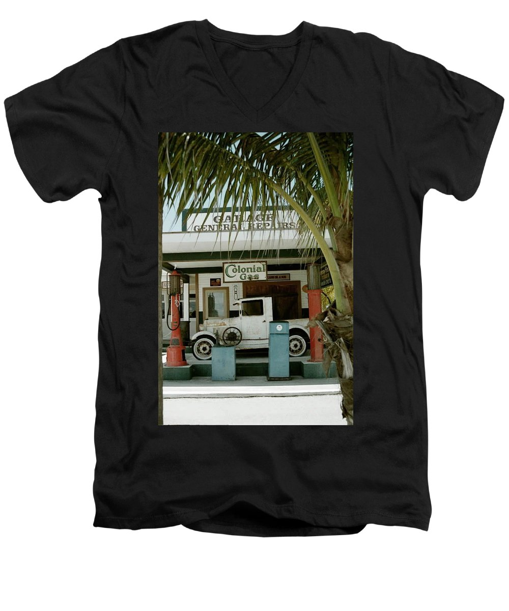 Everglade City Men's V-Neck T-Shirt featuring the photograph Everglade City II by Flavia Westerwelle