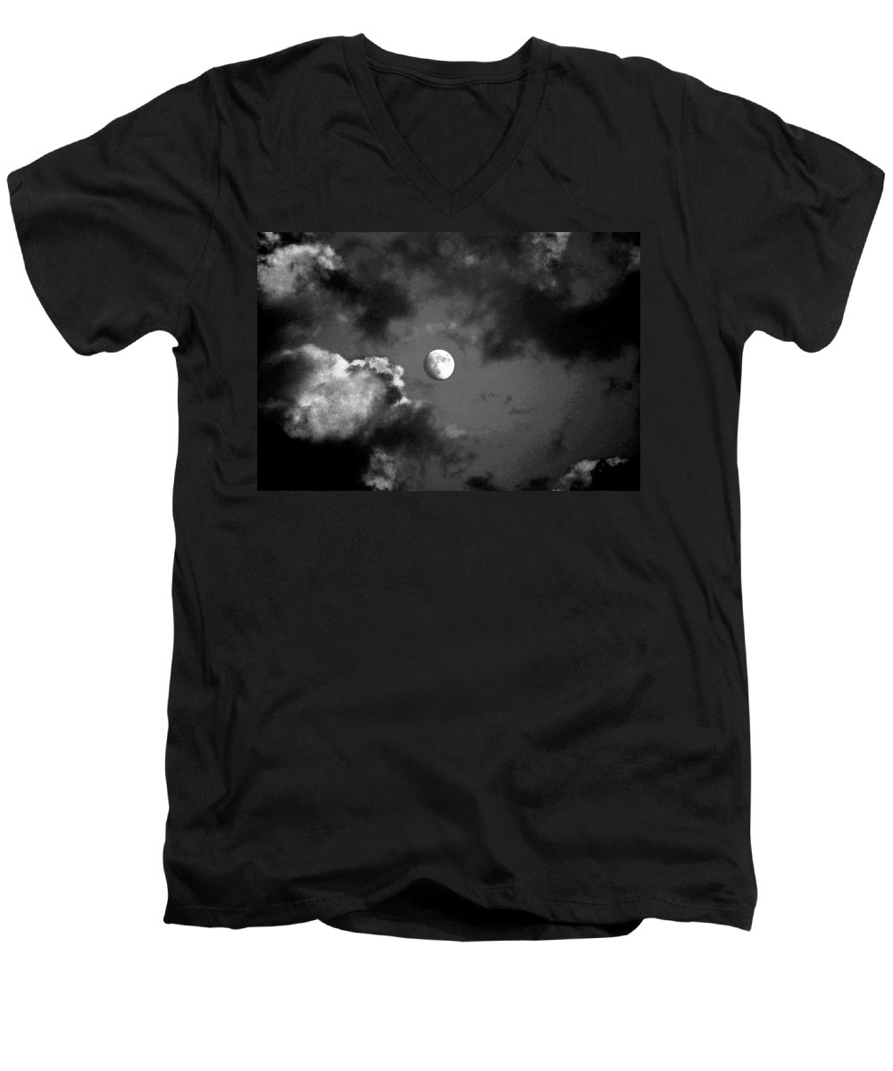 Sky Men's V-Neck T-Shirt featuring the photograph Eye In The Sky by Steve Karol