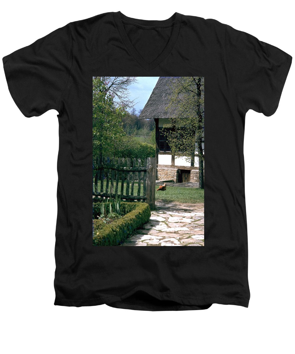 German Men's V-Neck T-Shirt featuring the photograph Farm by Flavia Westerwelle