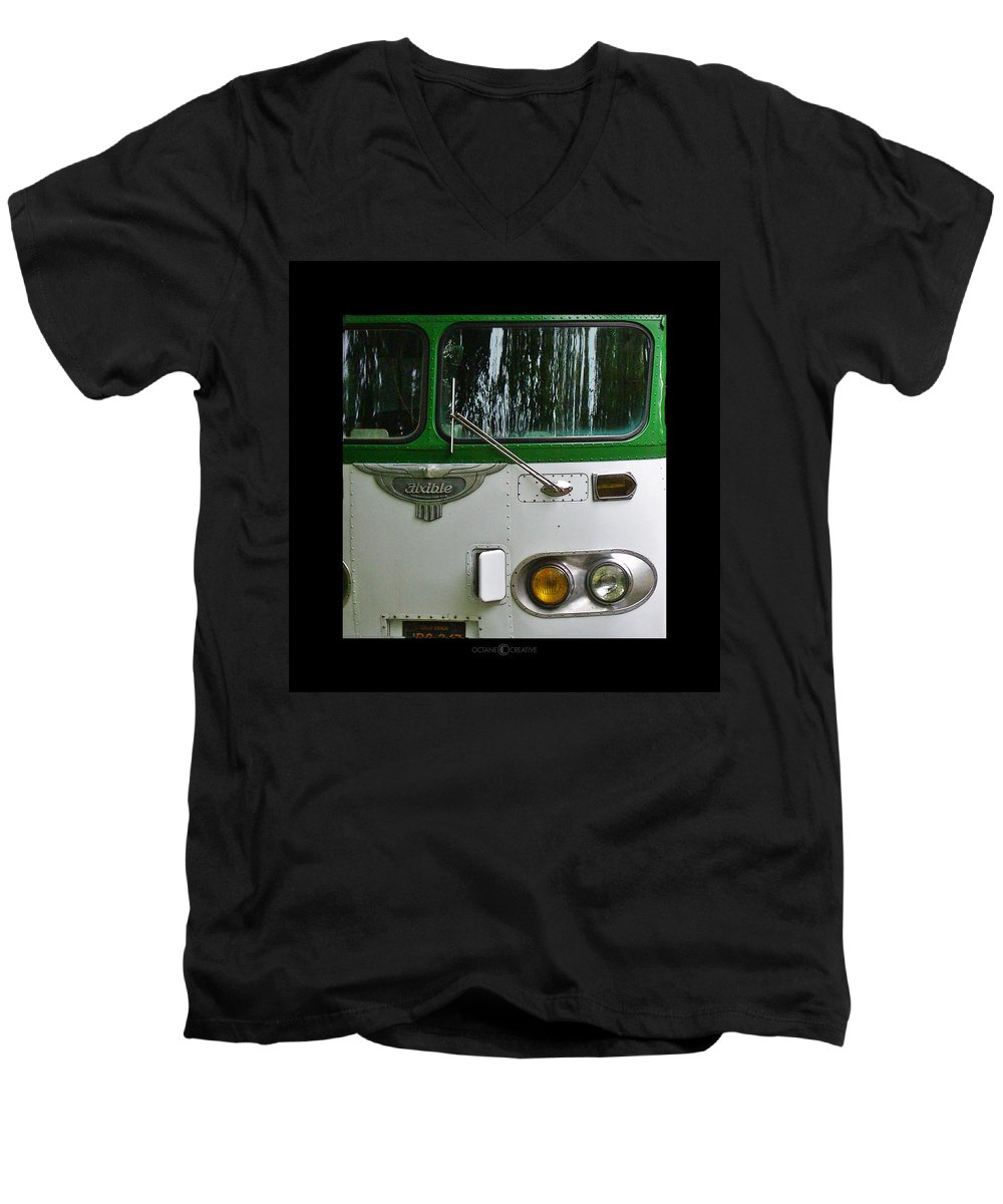 Flxible Men's V-Neck T-Shirt featuring the photograph Flxible by Tim Nyberg