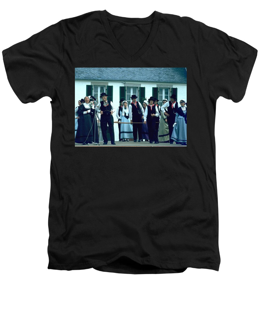 Tradition Men's V-Neck T-Shirt featuring the photograph Folk Music by Flavia Westerwelle