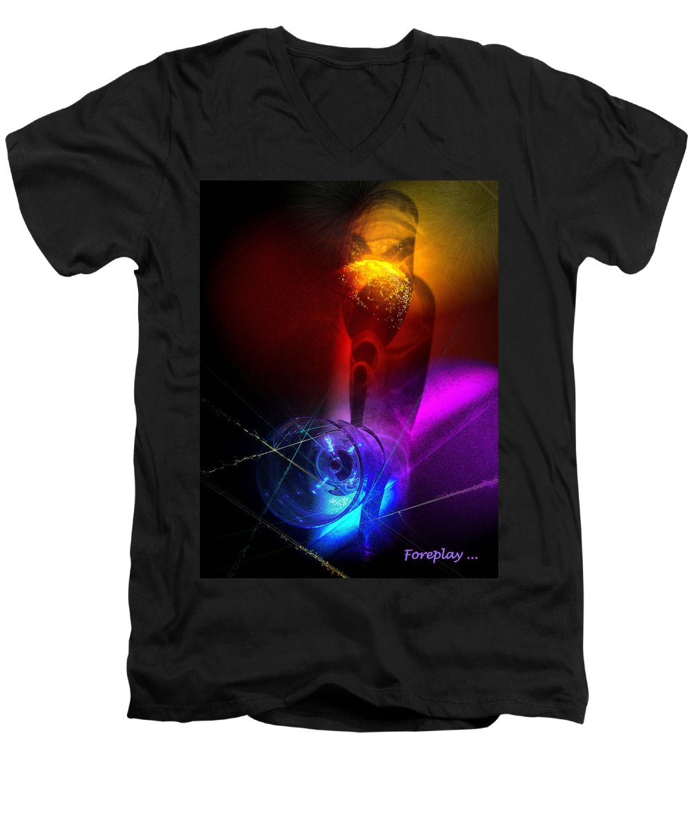 Fantasy Men's V-Neck T-Shirt featuring the photograph Foreplay by Miki De Goodaboom