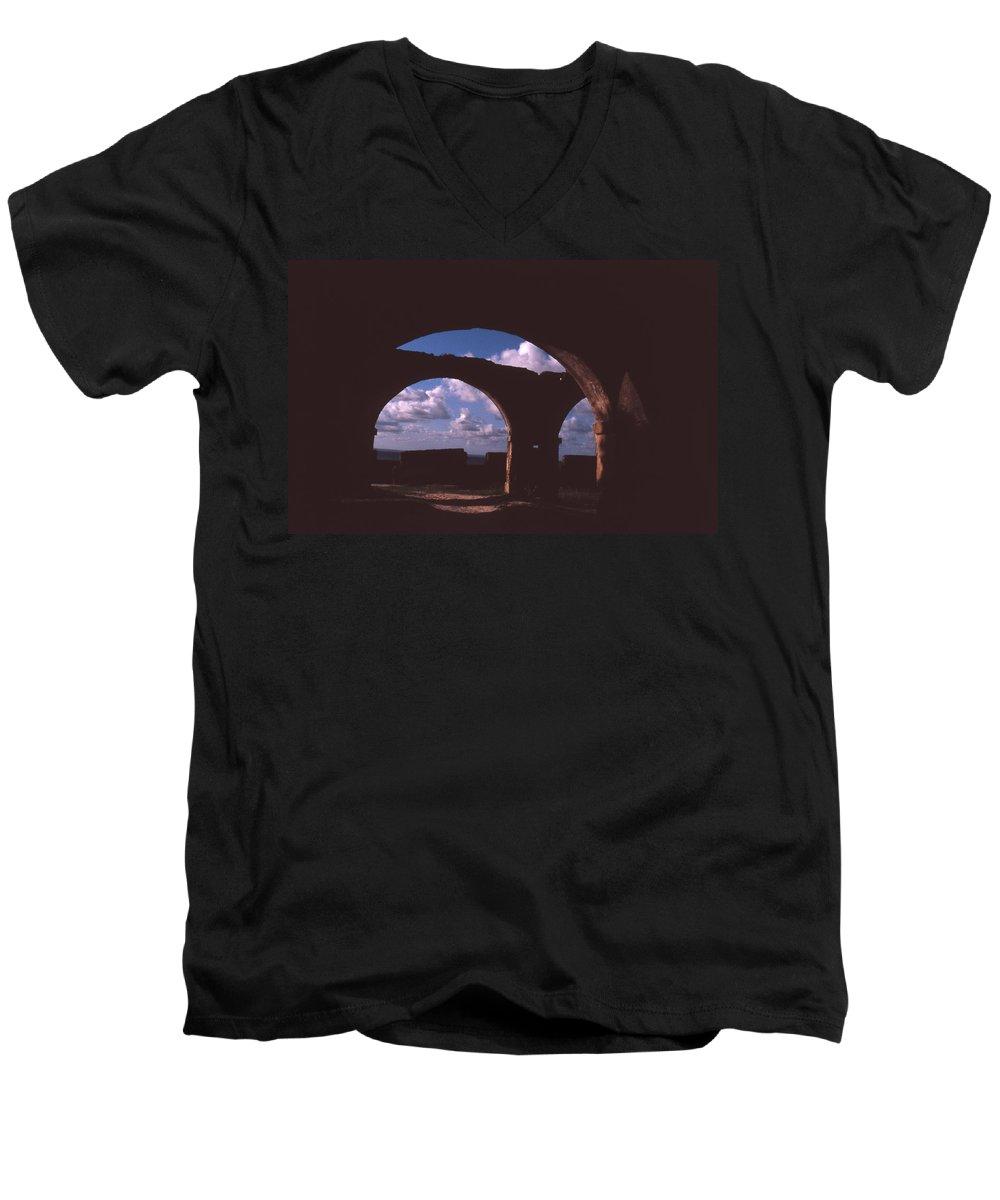 Bahia Men's V-Neck T-Shirt featuring the photograph Fortaleza De Morro De Sao Paulo by Patrick Klauss