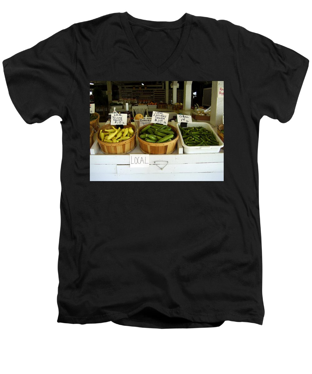 Fresh Produce Men's V-Neck T-Shirt featuring the photograph Fresh Produce by Flavia Westerwelle