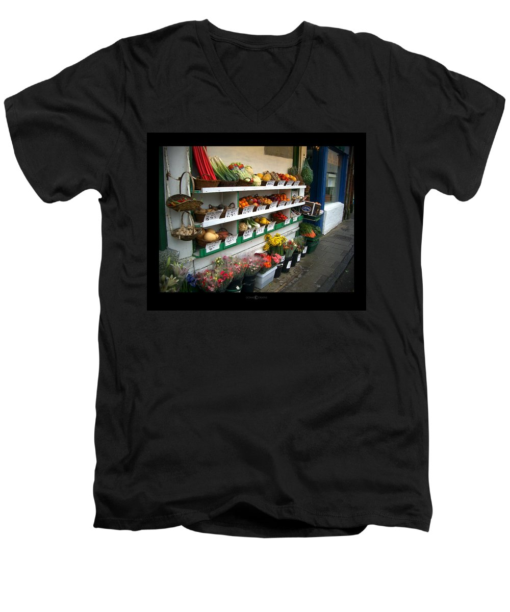 Shaftesbury Men's V-Neck T-Shirt featuring the photograph Fresh Produce by Tim Nyberg