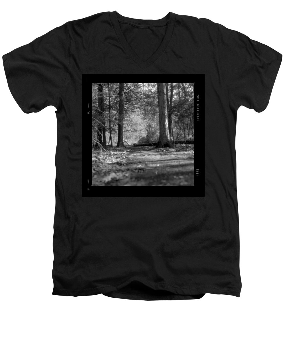 Trees Men's V-Neck T-Shirt featuring the photograph Ground Floor by Jean Macaluso