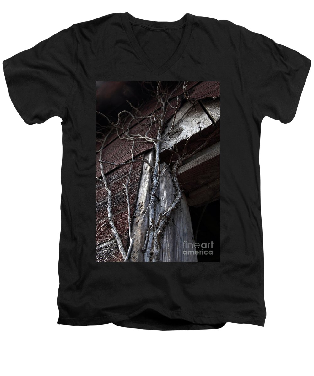 Broken Men's V-Neck T-Shirt featuring the photograph Growth by Amanda Barcon