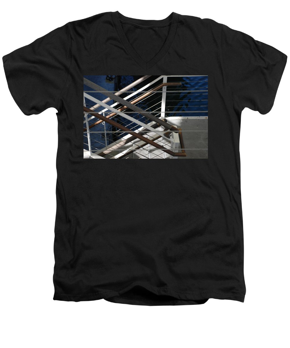 Water Men's V-Neck T-Shirt featuring the photograph Hand Rails by Rob Hans