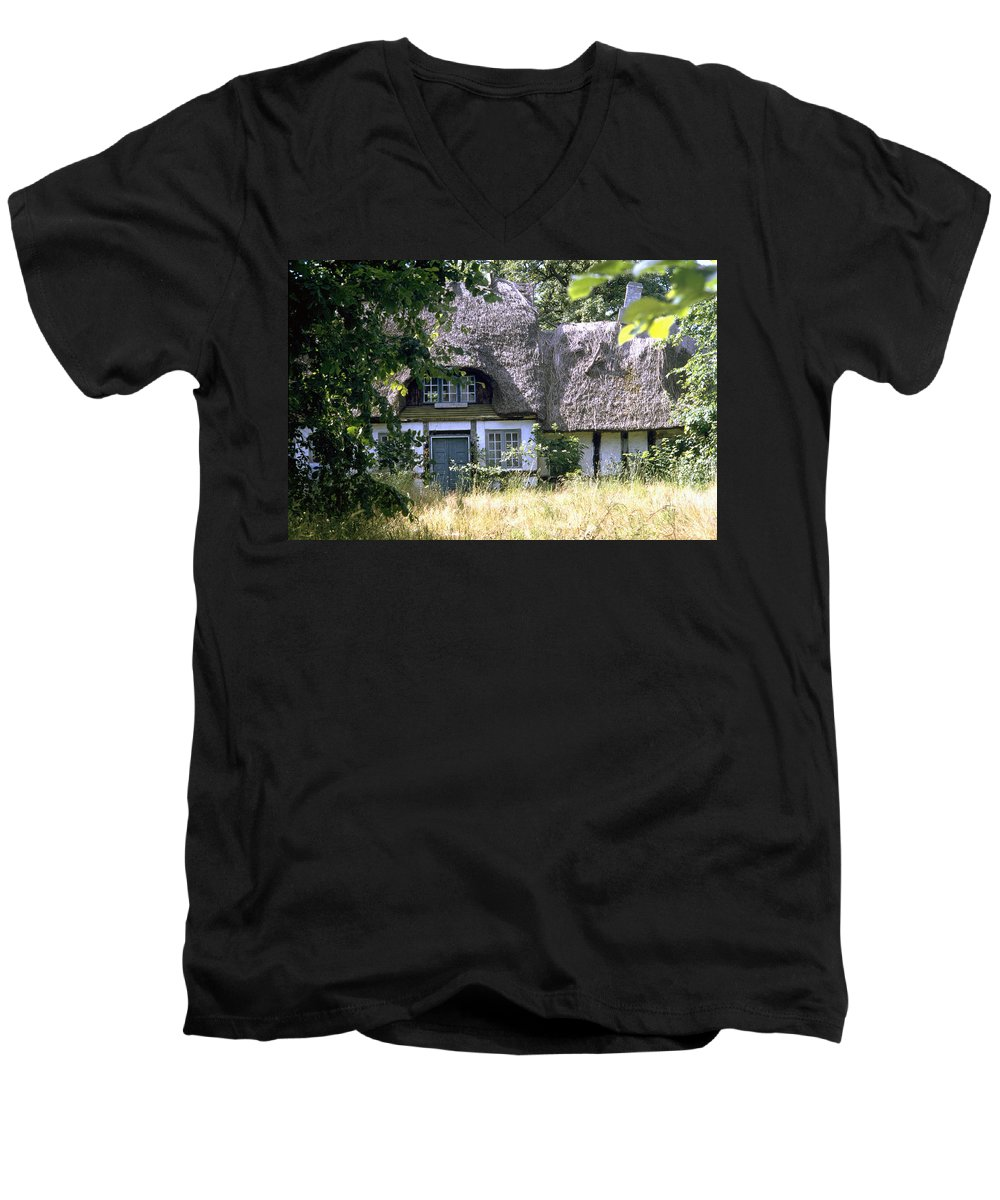 Denmark Men's V-Neck T-Shirt featuring the photograph Hidden Beauty by Flavia Westerwelle