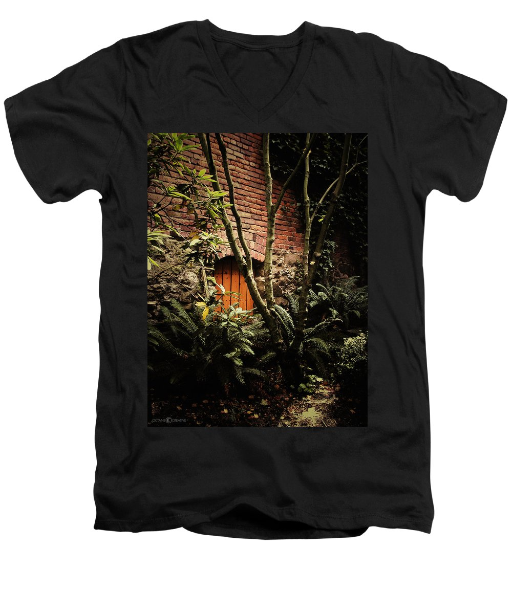 Brick Men's V-Neck T-Shirt featuring the photograph Hidden Passage by Tim Nyberg