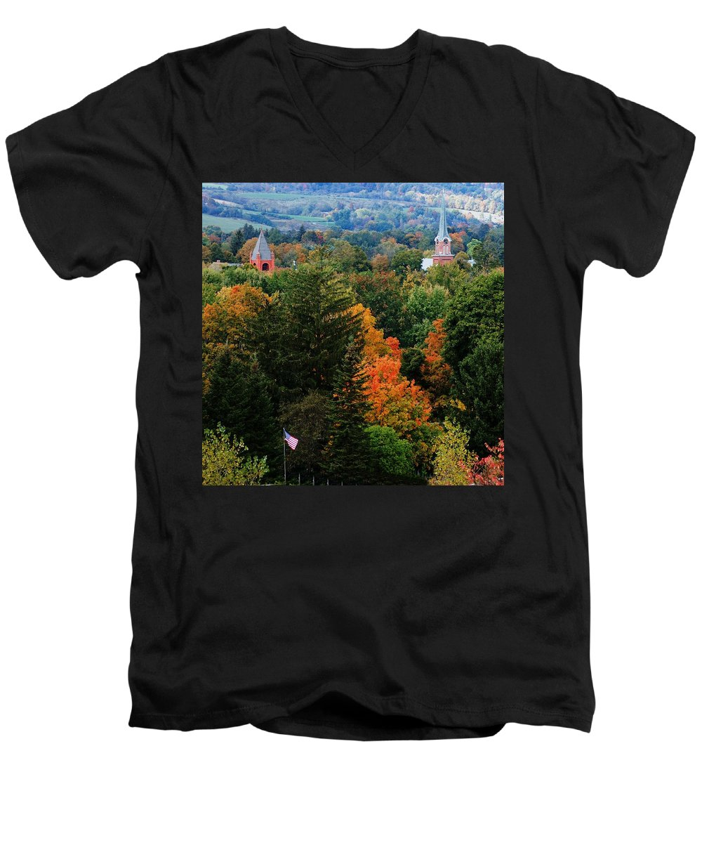 Landscape Men's V-Neck T-Shirt featuring the photograph Homer Ny by David Lane