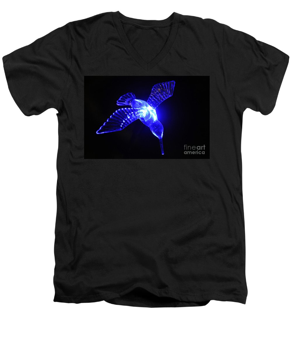 Clay Men's V-Neck T-Shirt featuring the photograph Humming Bird Light by Clayton Bruster