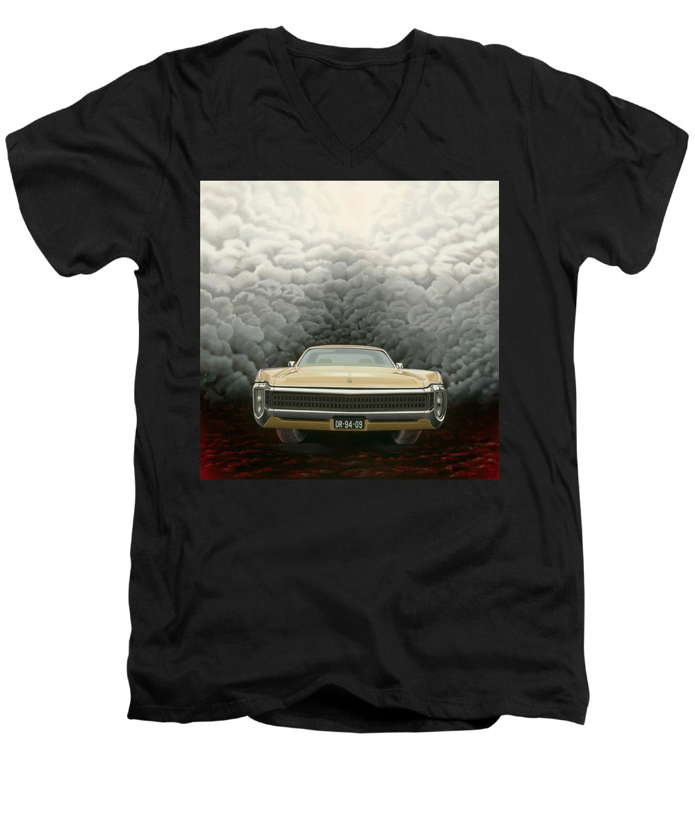 Surreal Men's V-Neck T-Shirt featuring the painting Imperial by Patricia Van Lubeck
