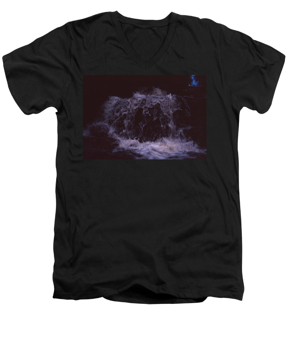 Bahia Men's V-Neck T-Shirt featuring the photograph In A Bahian Waterfall by Patrick Klauss