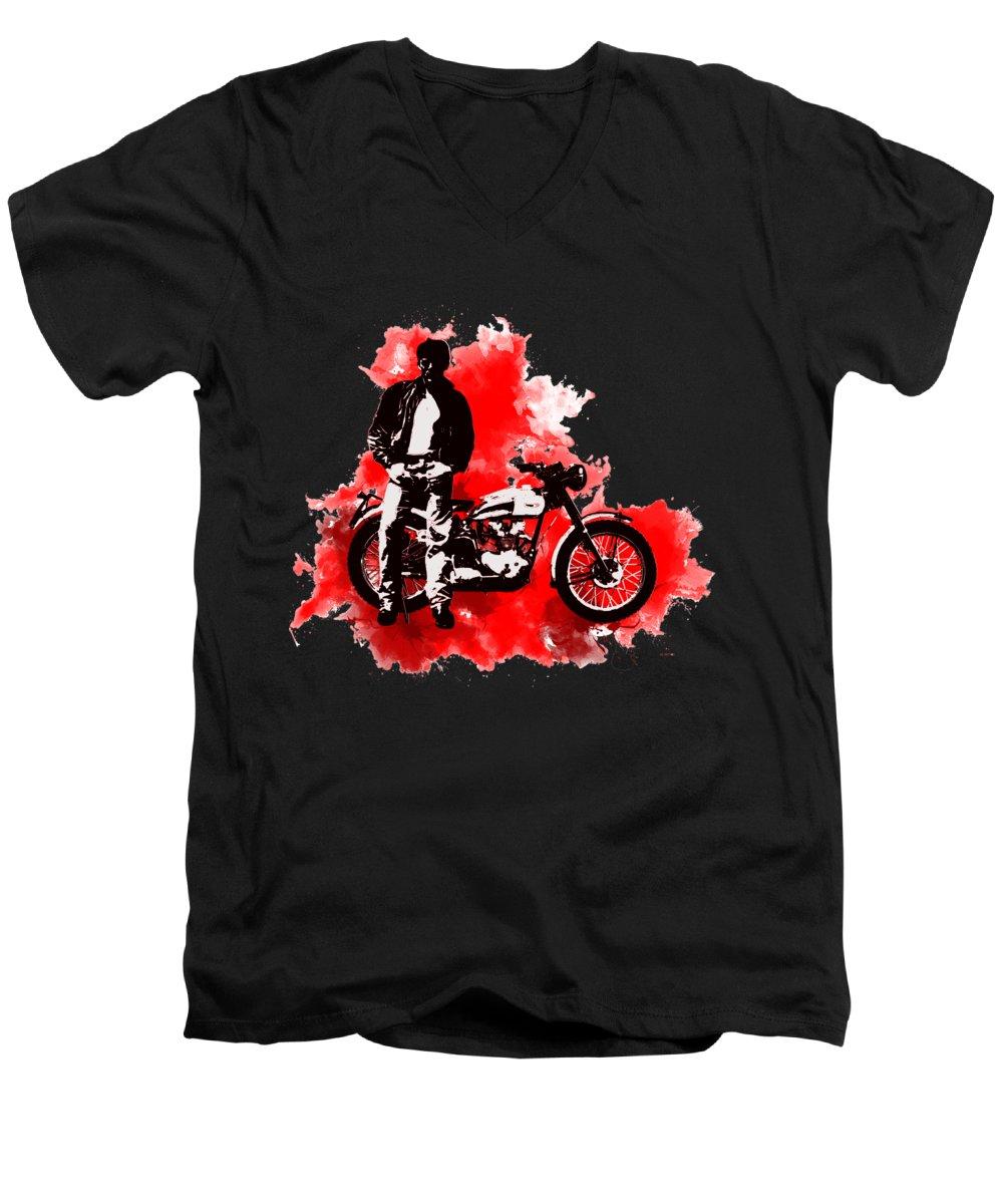 James Dean V-Neck T-Shirts
