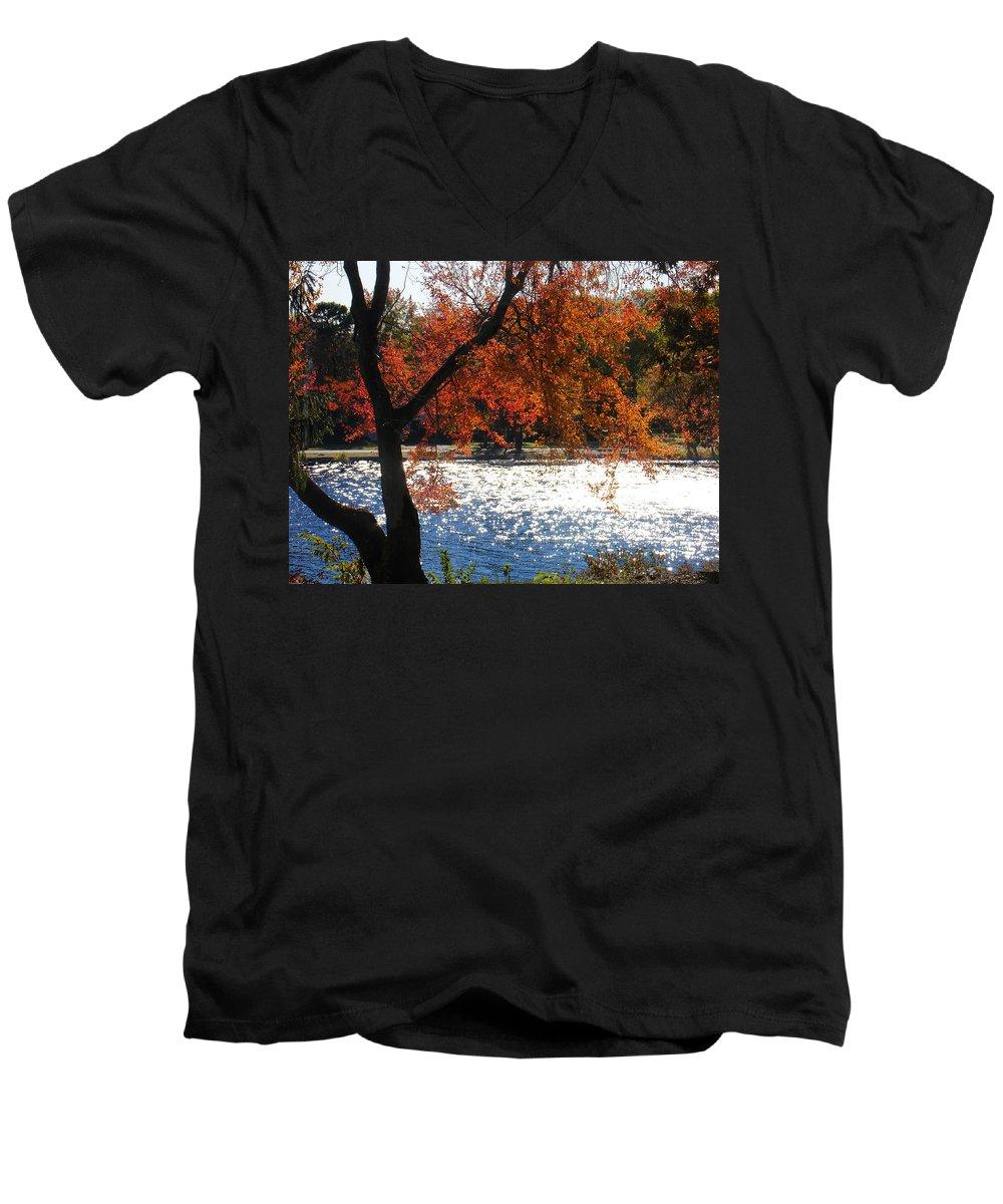 Landscape Men's V-Neck T-Shirt featuring the photograph Lakewood by Steve Karol