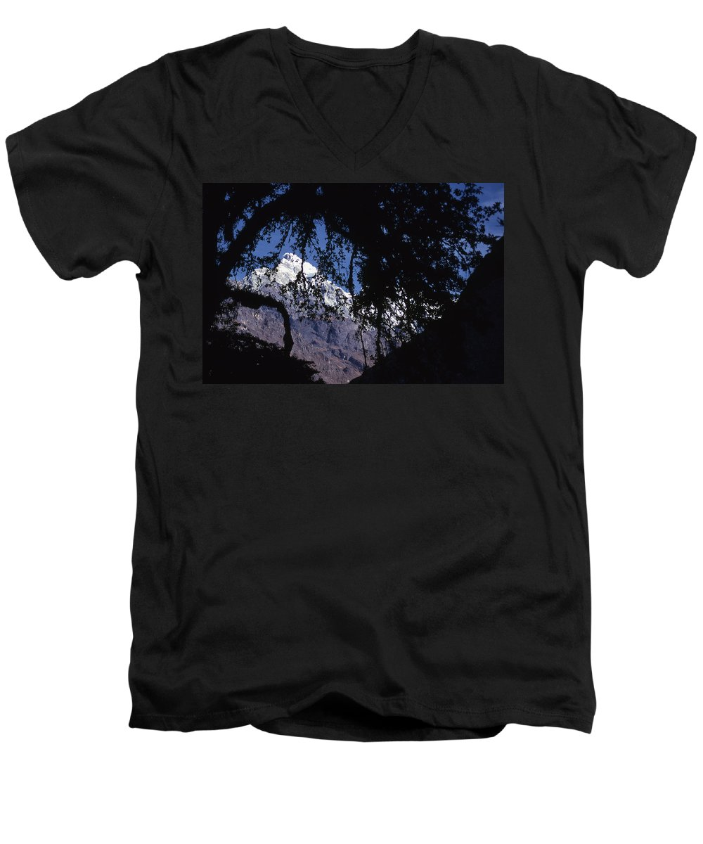 Langtang Men's V-Neck T-Shirt featuring the photograph Langtang by Patrick Klauss