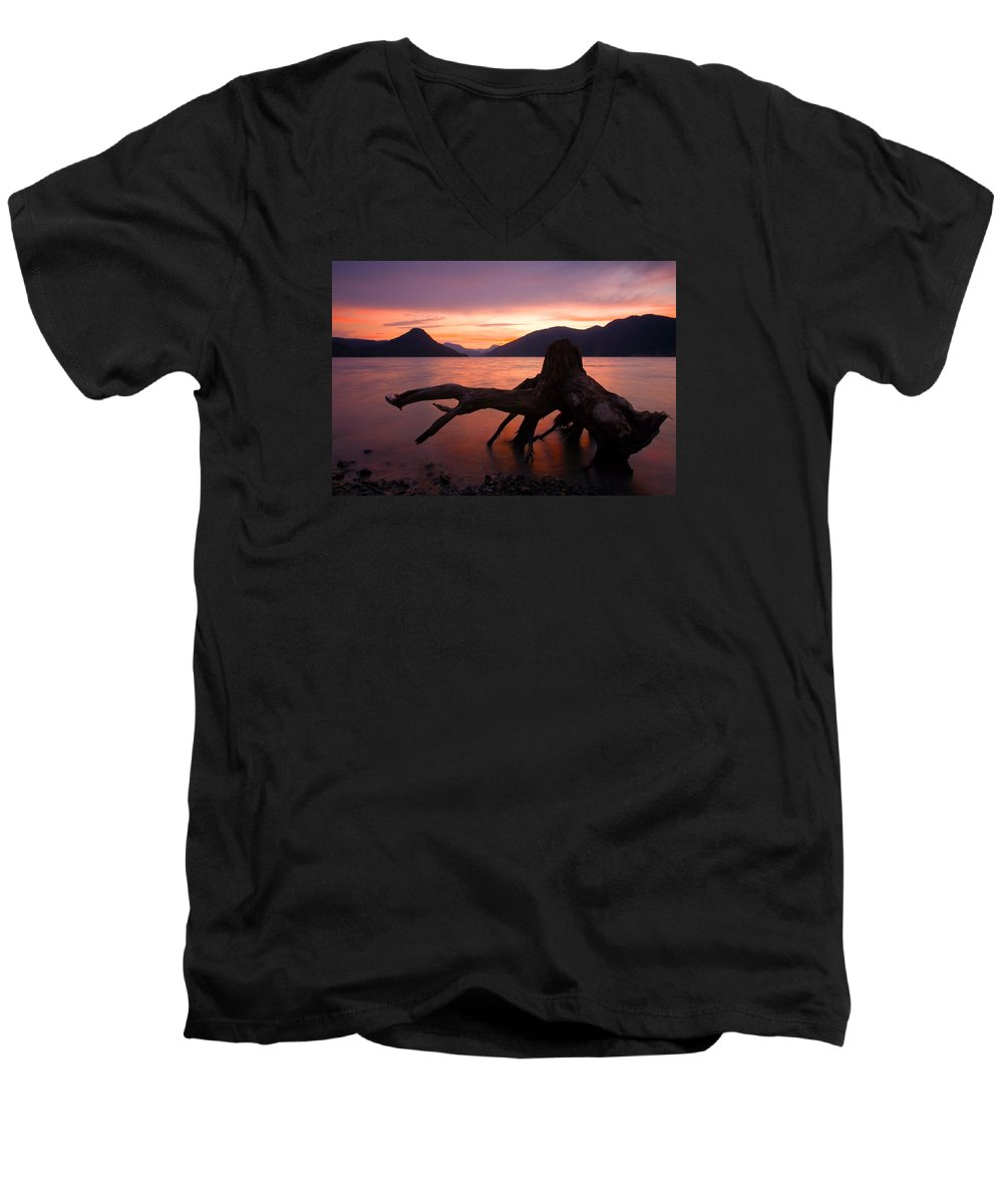 Stump Men's V-Neck T-Shirt featuring the photograph Left Behind by Mike Dawson