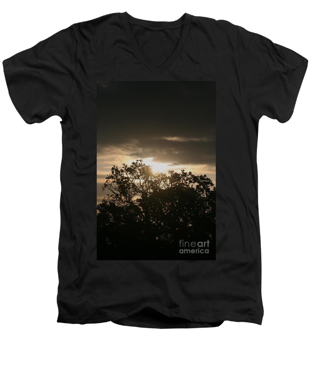 Light Men's V-Neck T-Shirt featuring the photograph Light Chasing Away The Darkness by Nadine Rippelmeyer