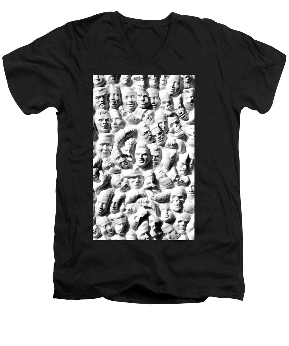 Figure Men's V-Neck T-Shirt featuring the sculpture Melancholic Journey 1 by Mark Cawood