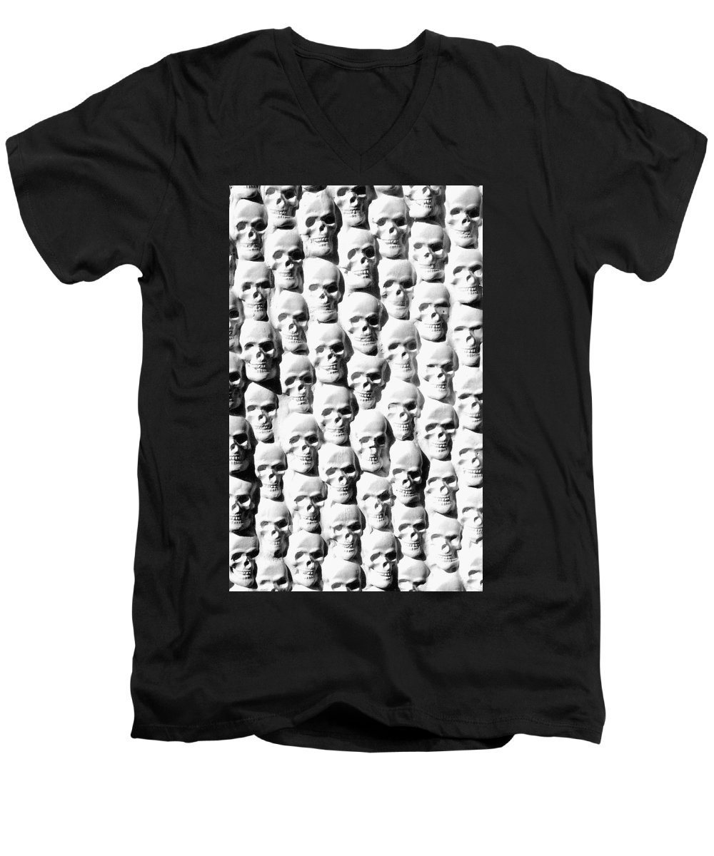 Figurative Men's V-Neck T-Shirt featuring the sculpture Melancholic Journey 2 by Mark Cawood