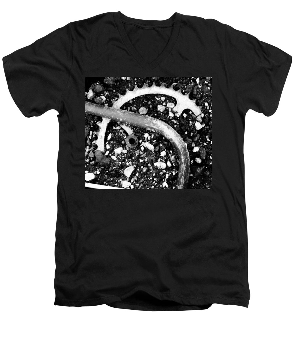 Metal Men's V-Neck T-Shirt featuring the photograph Metallic Curves by Angus Hooper Iii