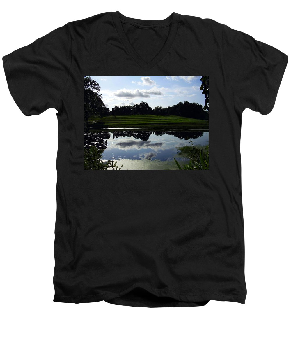 Middleton Place Men's V-Neck T-Shirt featuring the photograph Middleton Place II by Flavia Westerwelle