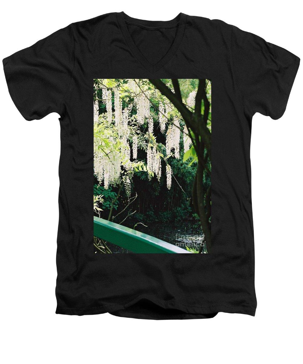Monet Men's V-Neck T-Shirt featuring the photograph Monet's Garden Delights by Nadine Rippelmeyer