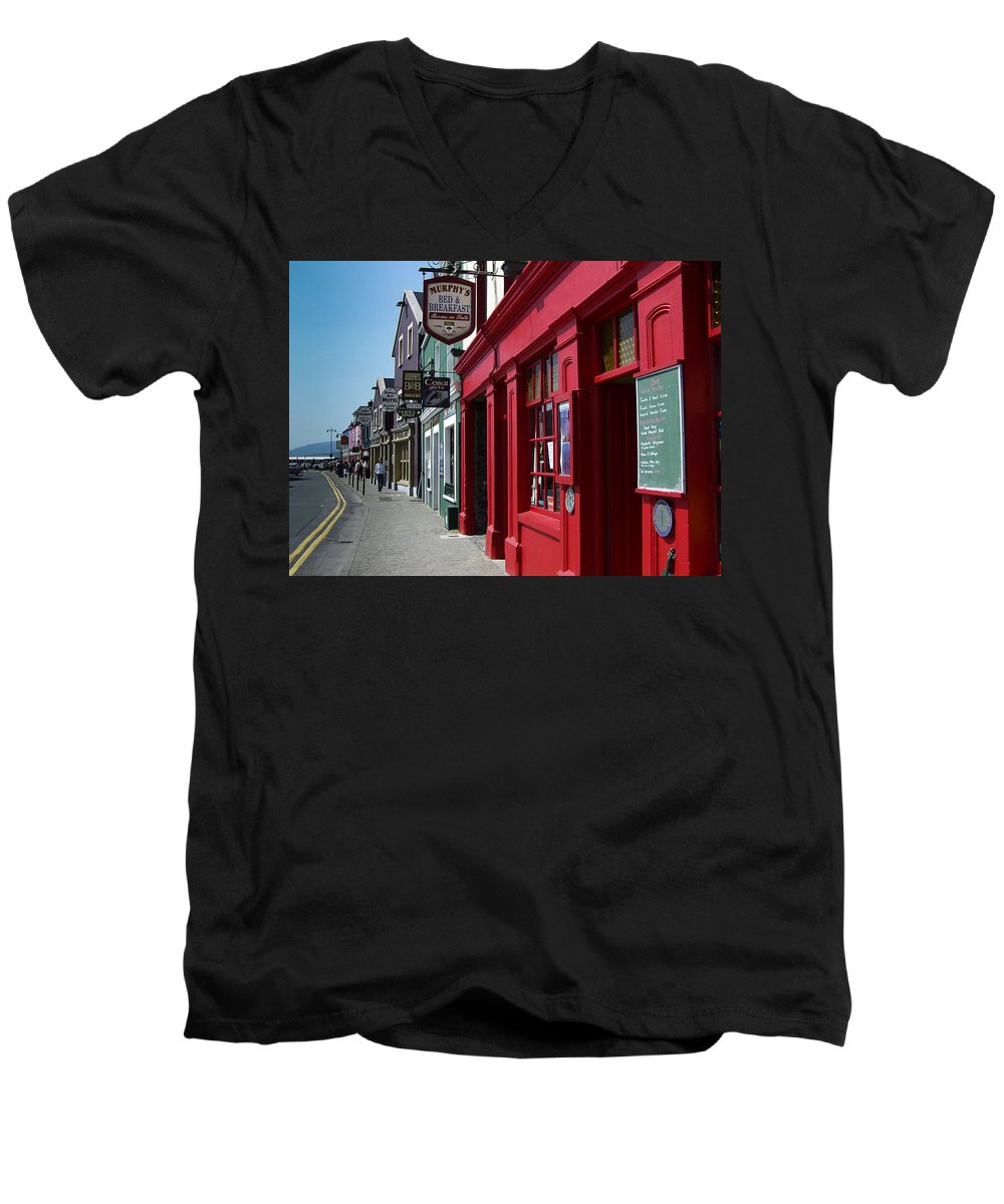 Irish Men's V-Neck T-Shirt featuring the photograph Murphys Bed And Breakfast Dingle Ireland by Teresa Mucha