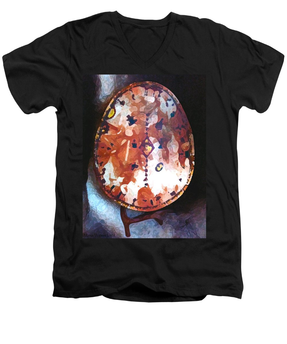 Magic Men's V-Neck T-Shirt featuring the photograph My Magic Drum by Merja Waters